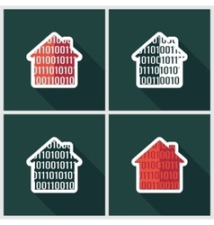 smart home flat icon vector image