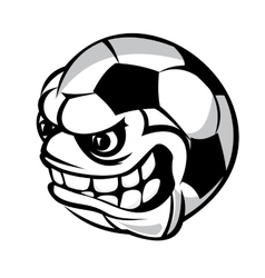 soccer cartoon ball vector image