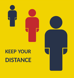 Social distancing keep your distance vector