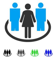 Society flat icon vector