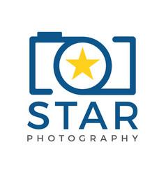 star camera logo icon template vector image