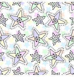 stars seamless pattern in pastel colors childish vector image