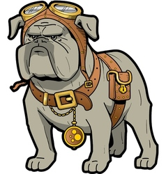 Steampunk Bulldog vector