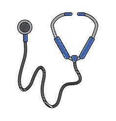 stethoscope medical tool vector image