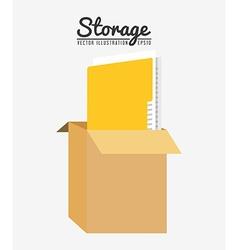 Storage center design vector