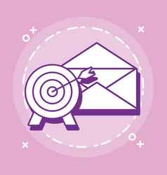 target and envelope vector image