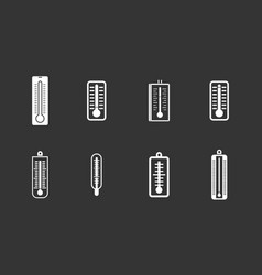 Thermometer icon set grey vector