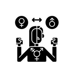 Transgender black glyph icon vector