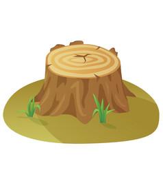 Tree stump damaged destruction forest vector