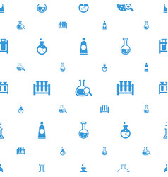 Tubes icons pattern seamless white background vector