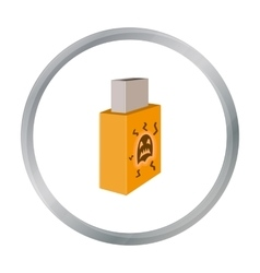 USB with virus icon in cartoon style isolated on vector image