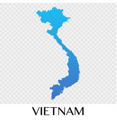 Vietnam map in asia continent design vector