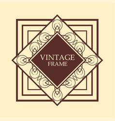 vintage border vector image