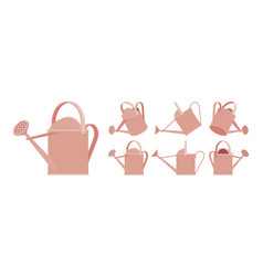 watering copper can vector image