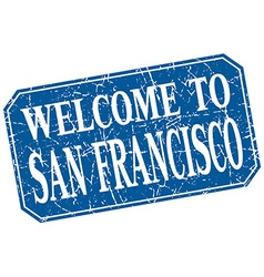 Welcome to San Francisco blue square grunge stamp vector