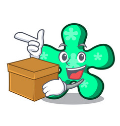 with box free form character cartoon vector image