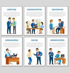 Work task and order of boss job interview vector