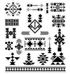 Aztec tribal ethnic elements vector image vector image