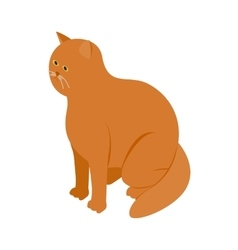 Big orange cat icon isometric 3d style vector image vector image