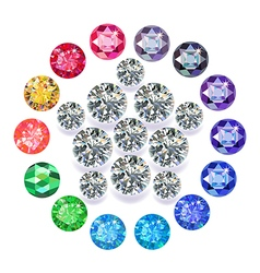 Diamond pentagon brooch vector image