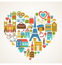 Paris love vector image vector image
