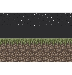 pixel art sprite - stone dirt vector image vector image