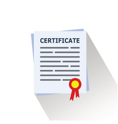 sertificate or diploma icon image vector image