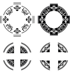 set of fantasy rings vector image
