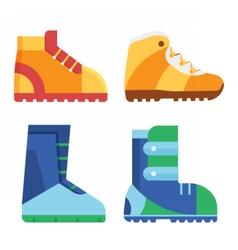 Sport Boots for Outdoor Activities vector image