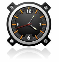 watch with black dial vector image vector image