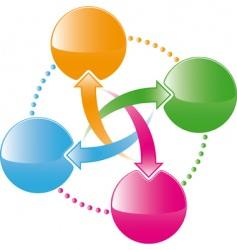 web interface vector image