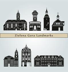 zielona gora landmarks vector image vector image