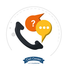 call center telephone communication help vector image