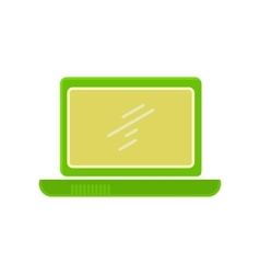 Laptop Flat Icon vector image vector image