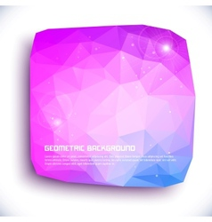 Abstract geometric 3D background vector image vector image
