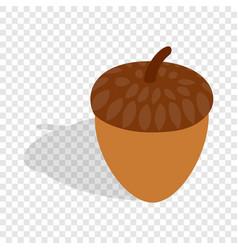 acorn isometric icon vector image vector image