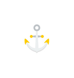 flat icon anchor element of vector image