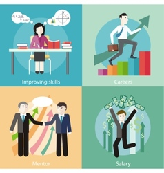 Improving Skills Careers Mentor Salary vector image vector image