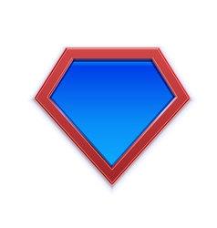 Superhero logo or icon template for web design or vector