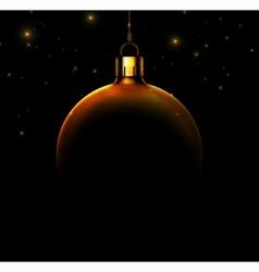 Christmas ball on black background vector image vector image