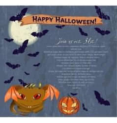 Invitation Halloween poster vector image