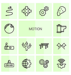 14 motion icons vector