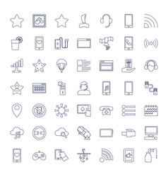 49 mobile icons vector