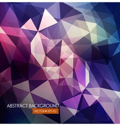 Abstract background of triangles in purple and blu vector
