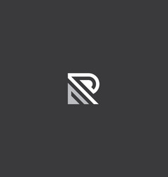 abstract initial r logo icon vector image