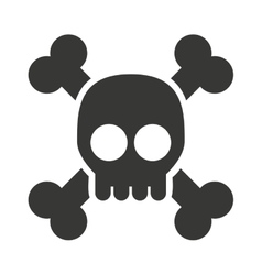 alert skull isolated icon design vector image