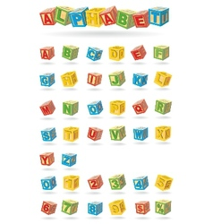 alphabet on a baby cubes vector image