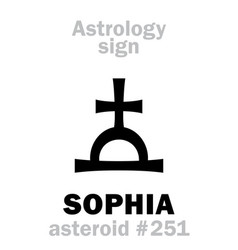 Astrology asteroid sophia vector