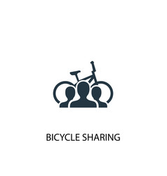 bicycle sharing icon simple element vector image