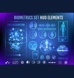biometrics set hud elements vector image